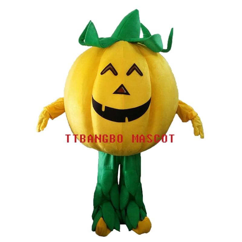 Halloween Pumpkin Mascot Costume Size Adult Costumes Halloween Pumpkins Show Clothing Festival Party Supplies