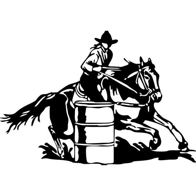 20cm 13 7cm Barrel Racing Cowgirl Girl Rodeo Horse Car
