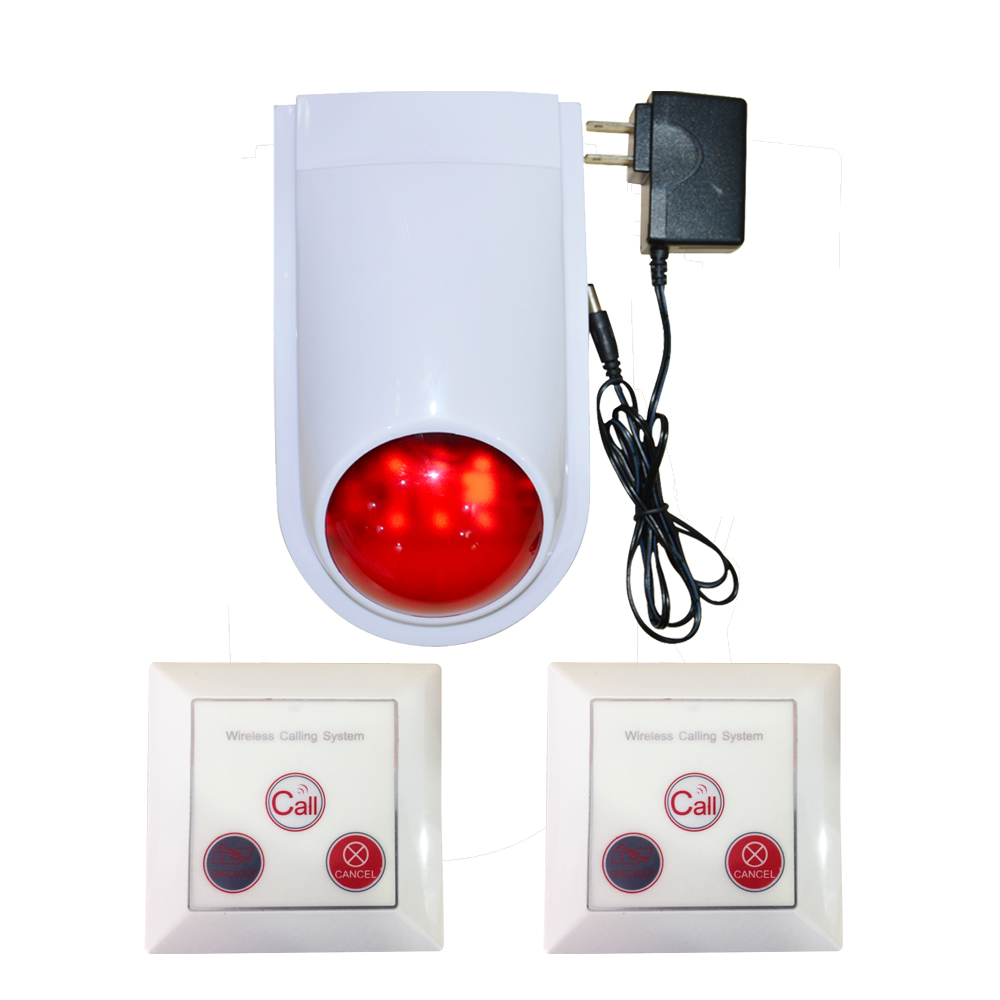 (1 Set) Standalone Simple Alarm system 86mm surface wall-mounted Button Wireless Control Flash Light 11DB Strobe siren (1 Set) Standalone Simple Alarm system 86mm surface wall-mounted Button Wireless Control Flash Light 11DB Strobe siren