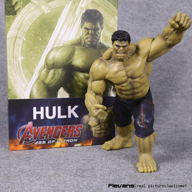 Crazy Toys Avengers Age of Ultron Hulk PVC Action Figure Collectible Model Toy 9 23cm avengers movie hulk pvc action figures collectible toy 1230cm retail box