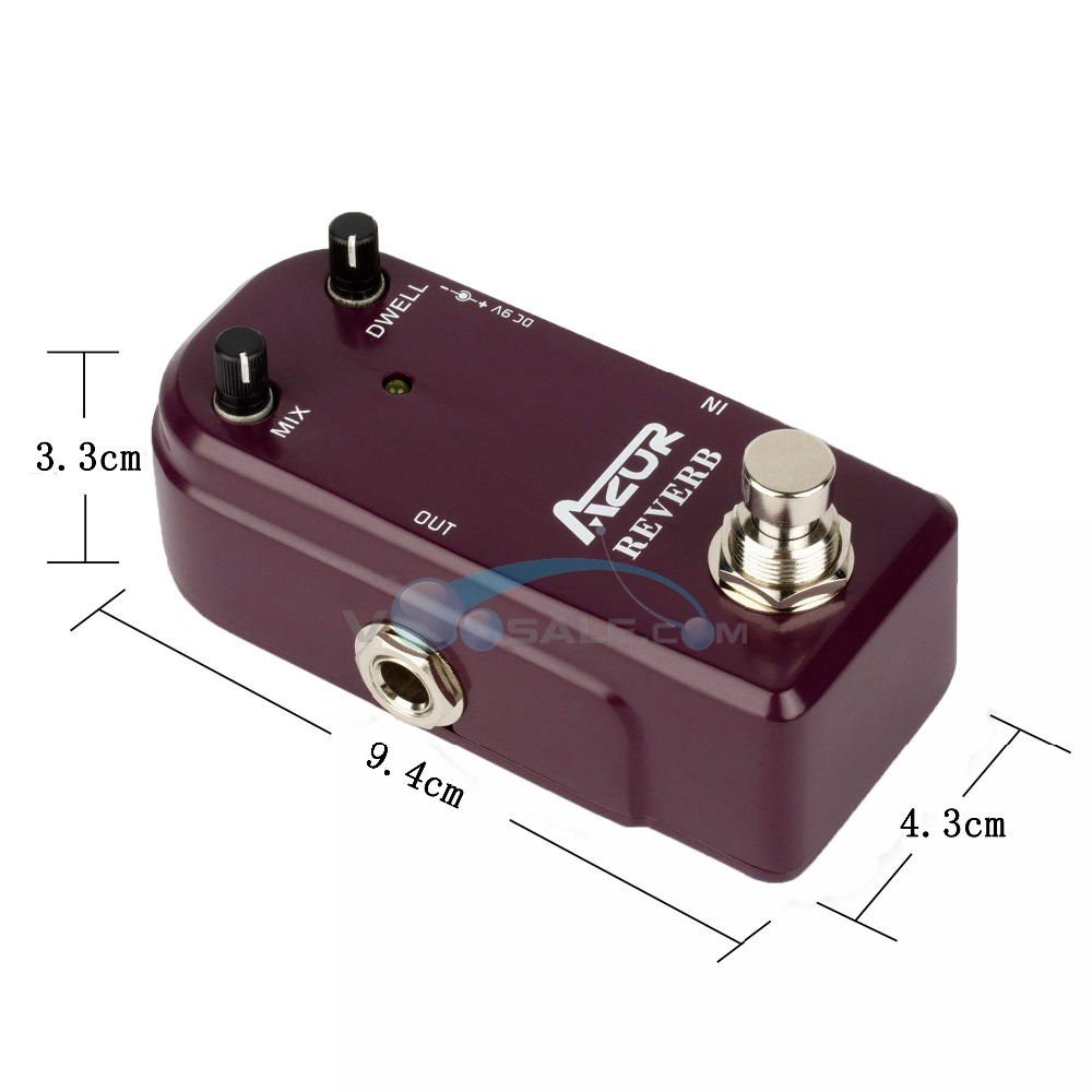 ap 311 reverb mini guitar effect pedal azor reverb mini guitar pedal dc9v input guitar parts. Black Bedroom Furniture Sets. Home Design Ideas
