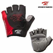 ROBESBON Breathable Men MTB Cycling font b Gloves b font Half Finger Anti Slip Silica Gel