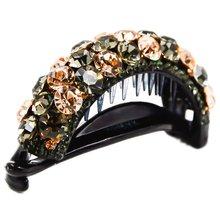 Fancyin 8cm Ladies Rhinestone Pony Hair Clip Fashion Claw for Women and Girls Crystal High Quality Wear