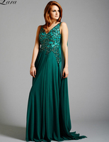 Emerald Green V Neck Tank Beaded Sleeveless vestido de noiva Formal robe de soiree party prom Gown 2018 bridesmaid dresses