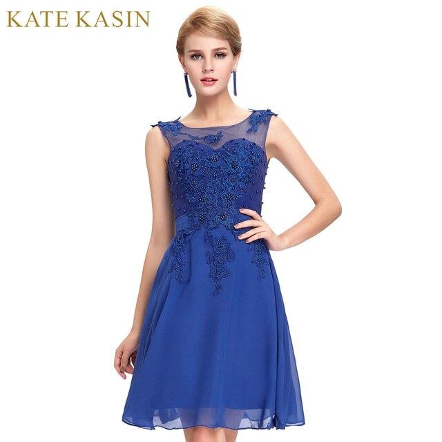 32b0fd0aeb86 Nero Rosa Viola Verde Rosso Corto Prom Dresess 2017 Royal blu Sexy Vestito di  Pizzo Applique