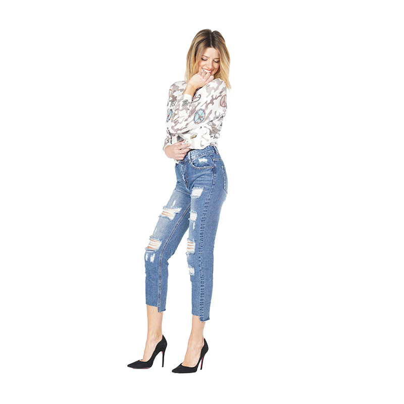 My Will Jeans Women Hip Hop Hole Jeans Made In China 746