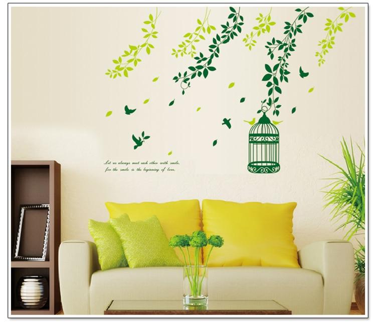 Gel Sticker Wall Poster Landscape Sweet Green Vines The Sitting Room ...