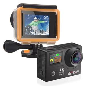 "Image 5 - GEEKAM H3R/H3 عمل كاميرا الترا HD 4 K/30fps 20MP WiFi 2.0 ""170D شاشة مزدوجة مقاوم للماء خوذة تسجيل الفيديو كاميرا كاميرا رياضية"