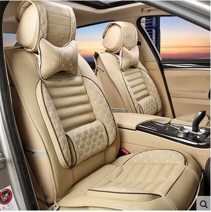 Ventilate Embroidery Logo Car Seat Cover Front 2 Seat Cushion Fit Toyota  Land Cruiser Rav4 Highlander Prado With 2 Neck Pillows Custom Fit Seat  Covers For ...