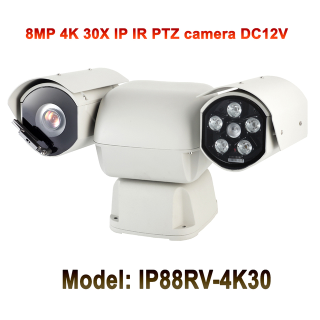8MP Ultra HD Night vision 100m Vehicle Mounted Ptz IP Camera 4k 360 Degrees Rotation Camera For Buses And Cars Security