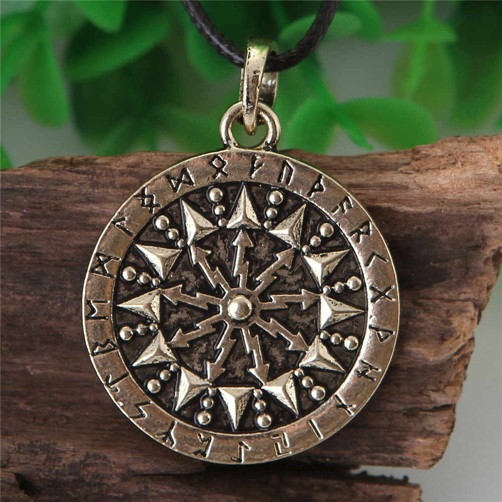 Shield Perun Pendant Necklace Jewelry Perun Rune Necklace Women Men Drop Shipping