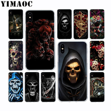 YIMAOC Grim Reaper Skull Skeleton Soft TPU Silicone Case for Apple Iphone Xr Xs Max X 10 8 Plus 7 6S 6 SE 5S 5 7Plus 8Plus