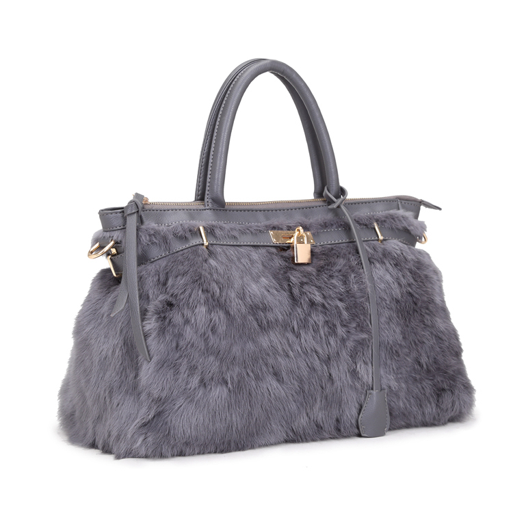 8d6ced89f8fb ARPIMALA 2017 Winter luxury faux fur tote big women bag fashion natural  soft hair lock handbags famous brand designer hand bags-in Top-Handle Bags  from ...