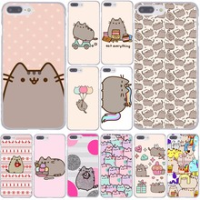 cute funny lovely Pusheen Cat Hard Phone Cover Case Transparent for Apple iPhone 7 7 Plus 6 6s Plus 5 5S SE 5C 4 4S Coque Shell