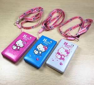 Image 2 - Hallo Kitty Flip Mit Dual SIM Karte Cartoon Atem Licht Kamera Voiceking Frauen Mädchen MP3 Nette 2,4 Zoll Telefon H  mobile D10