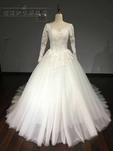 Vestido De Noiva long Sleeve Wedding Dress 2017 Arab Princess Casamento Romantico Bridal Gown robe de mariage casament