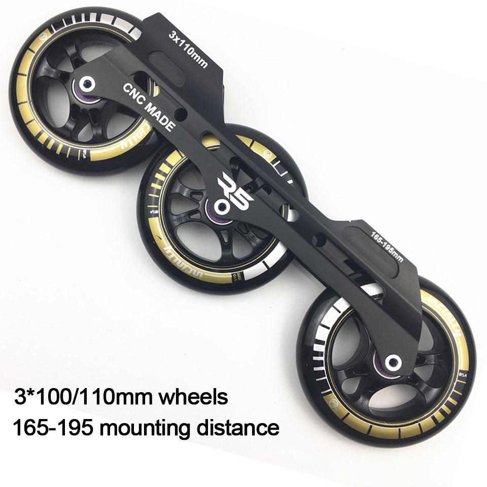 JEERKOOL Inline Slalom Slide Roller Skates Frame 3 100 110mm Wheels Aluminum Alloy Skating Base 85A