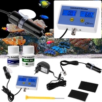 OOTDTY 2in1 Digital Salinity & PH Meter Water Quality Monitor Test pH 2771 for Aquarium