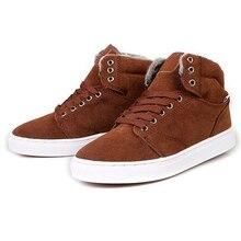 Winter Shoes Warm Men Shoes  with Fur 2015 Men's Shoes Comfortable Casual Shoes Size 7-9.5 XMM014