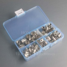 100Pcs/Box M3 M4 M5 M6 M8 Stainless Steel Rivnut Flat Head Threaded Rivet Insert Nutsert Cap Nut Assortment Kit