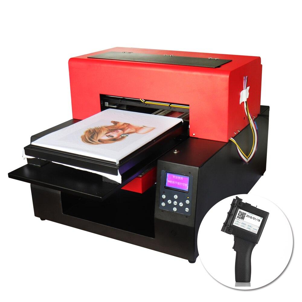 Imprimante automatique DTG A3 taille à plat Machine d'impression t-Shirt Pinter et imprimante Portable Portable imprimante QR Code imprimante papier