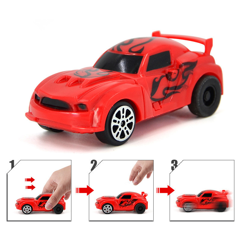 1PCS Blue And Red Car For Magic Track In NO.7 Toy Store