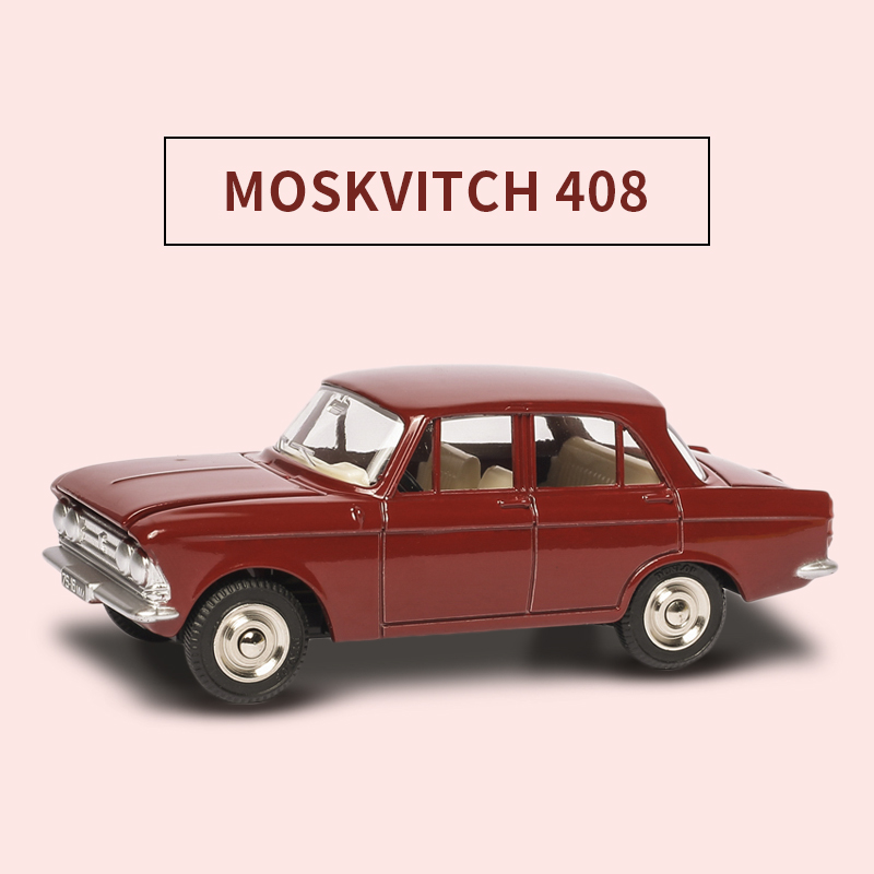 High simulation 1410 MOSKVITCH 408 <font><b>1:43</b></font> Dinky Alloy Pull Back Toy <font><b>Car</b></font> <font><b>Model</b></font> Toy <font><b>Car</b></font> Hot Diecast Metal For Kids Toys Wheels image