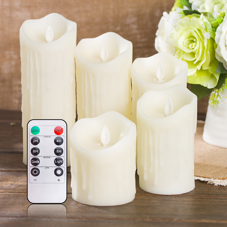 Lellen 1pc Tears Shape LED Candles Remote Control Scented Bougie Velas Pillar Candle Home Wedding Decoration For Birthday Party