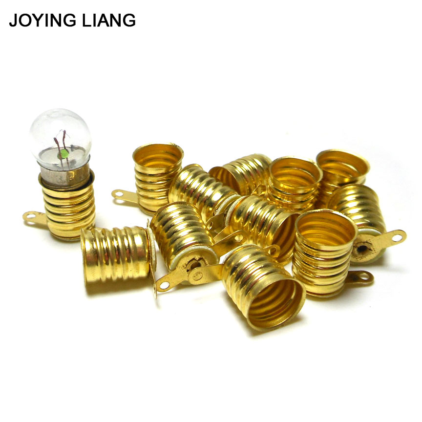JOYING LIANG E10 Small Lamp Base Screw Type Student Physics Experiment Bulb Seat Old Falslight Lamp Holder 10pcs/lot
