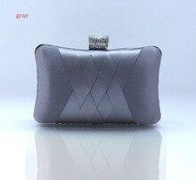 Мода Темно-Синий Женская Атласная Rhinestone Сцепления сумочка Вечерняя сумочка Банкетный Партия Кошелек Макияж Сумка Бесплатная Доставка 7395-J(China (Mainland))