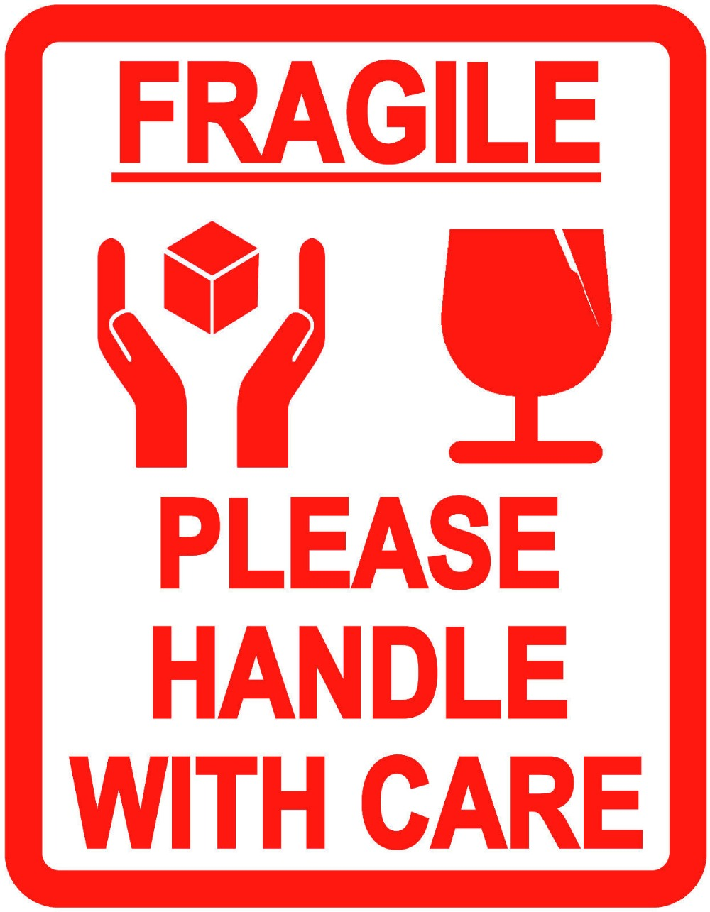 500pcs/lot FRAGILE PLEASE HANDLE WITH CARE self adhesive ...