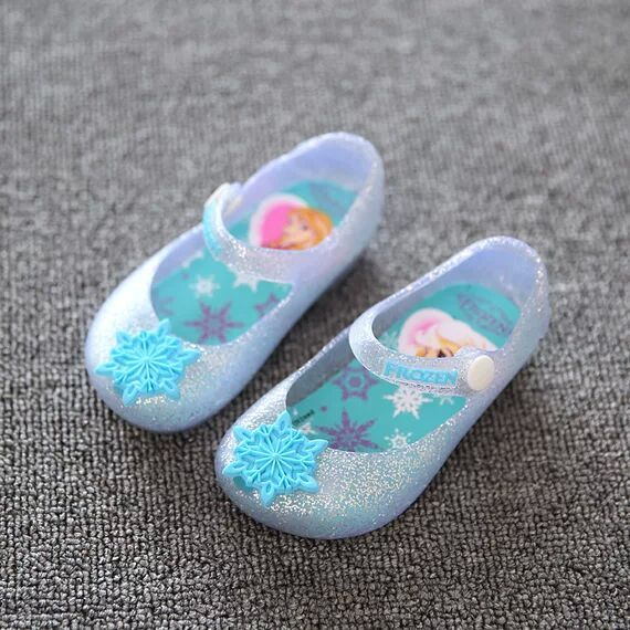 2016 cute Mini melissa girl sandals snow flower buckle strap rain boots baby jelly toddler Christmas