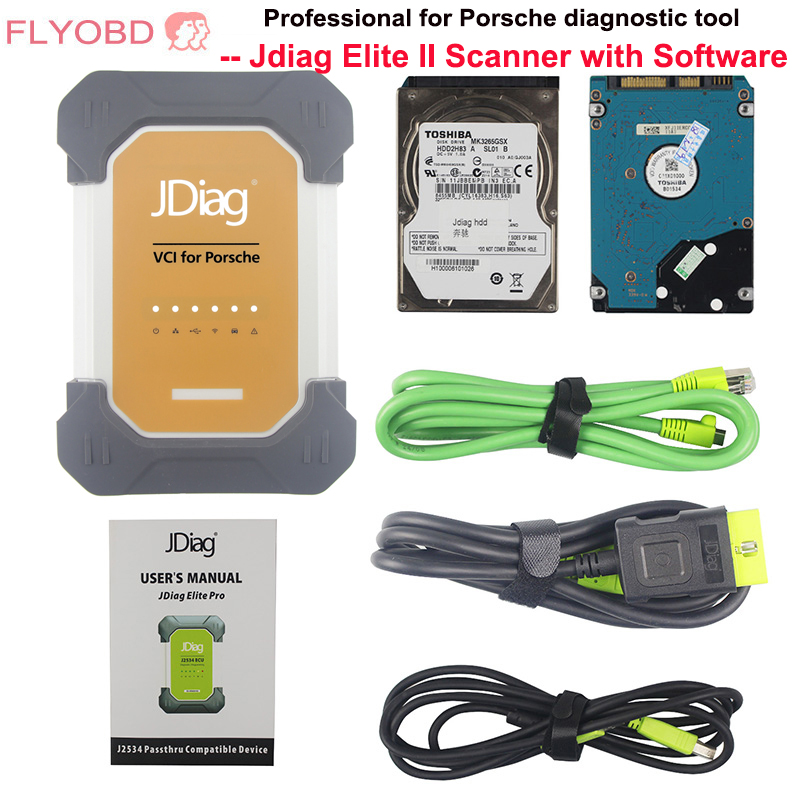 JDiag Elite II pro Carro Universal J2534 CF-19 i5 ECU Programador de Diagnóstico para a porsche com software ferramenta profissional de diagnóstico