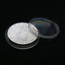 Gold Plated Physical Bitcoins Casascius Bit Coin BTC With Case Gift Physical Metal Antique Imitation BTC Coin Art Collection casascius bit coin bitcoin bronze physical bitcoins coin collectible gift btc coin art collection physical