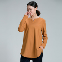 2017 Winter Plus size women basic t shirt pullover warm thick fleece cotton t shirt high quality V neck tees tops 3XL 4XL XXXXXL