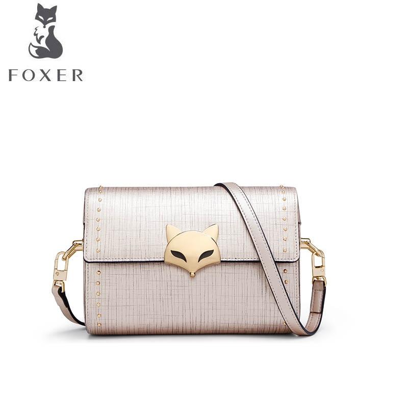 FOXER 2018 New women Leather bag fashion small bag luxury handbag women famous brand women leather shoulder crossbody bag