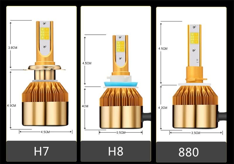 CROSSLEOPARD White Gold Color 12V 10000LM H4 H7 H1 H8 H9 H11 Led Car Headlight 3000K 6000K Dual Color Led Headlamp Auto Bulbs  (12)