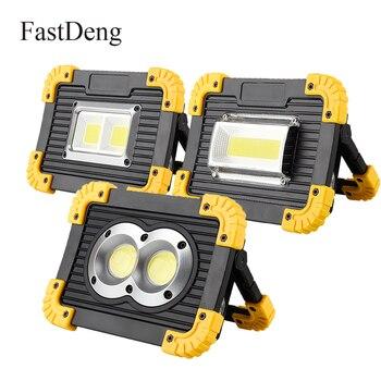 LED przenośny reflektor akumulatorowe światło robocze LED 18650 baterii na zewnątrz światło halogenowe na polowanie Camping Led latarnia latarka