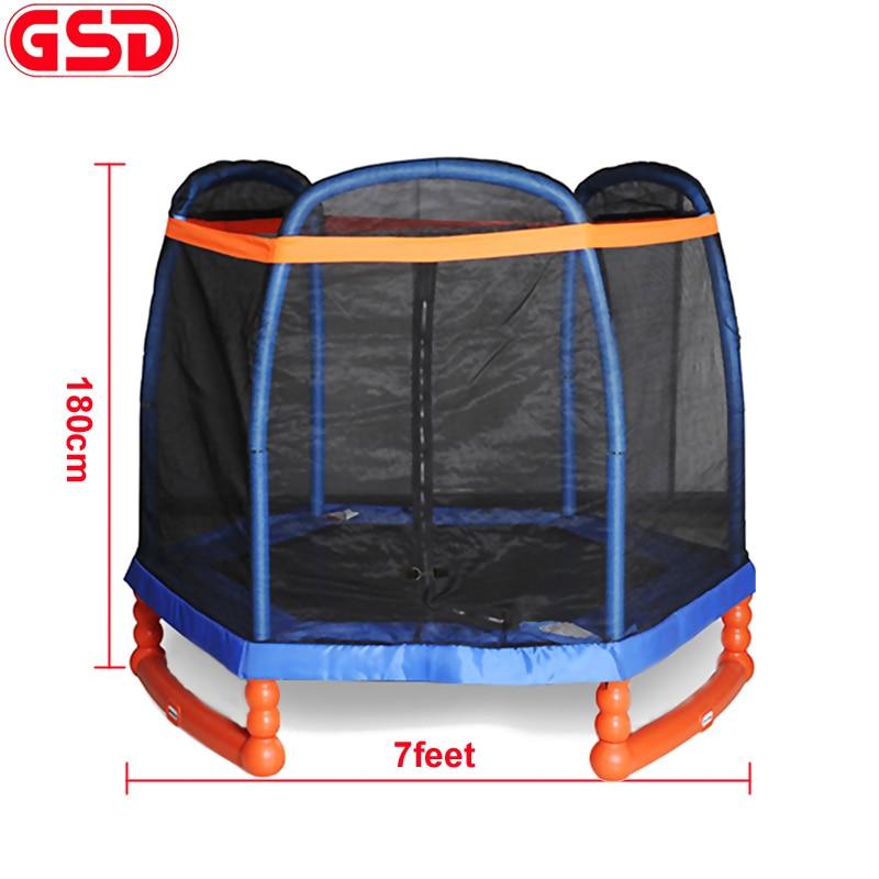 GSD Высокое качество 7 футов дети шестиугольный батут с крышкой формы SafetyNet подходит и сумка для обуви, CE, EN71 утверждение