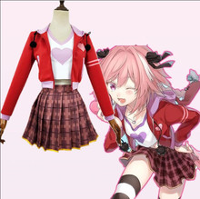 цена на Fate Grand Order Apocrypha Rider Astolfo Asutorufo Sportswear T-shirt Coat Dress Uniform Outfit Anime Cosplay Costumes