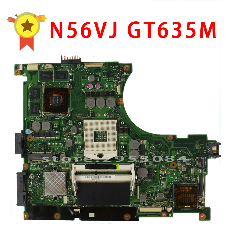 For Asus N56VJ GT635 2GB REV:2.3 Graphic N13P-GL-A1 Laptop Motherboard Fully Tested & Working Perfect for asus n76v n76vm n76vj n76vz laptop motherboard rev 2 2 pga989 with graphic full test