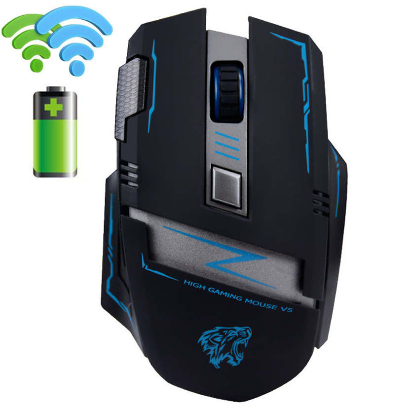 Del 2 4G Wireless Rechargeable 2400DPI 6 Buttons Optical Usb Ergonomic Gaming Mouse Jun 24