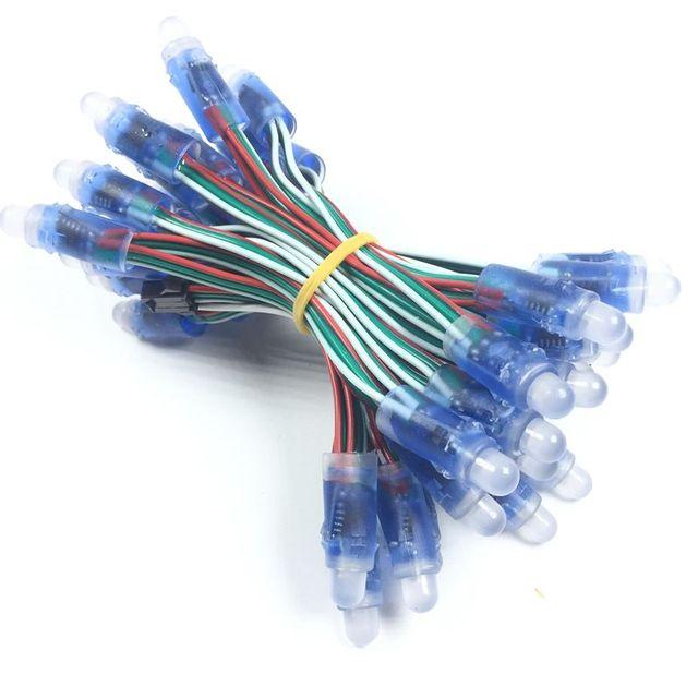50 יח'\חבילה 12mm WS2811 מלא צבע LED פיקסל אור מודול DC 5 V עמיד למים IP68 RGB צבע 2811 IC דיגיטלי LED חג המולד אור