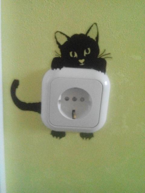 Naklejka na ścianę Kitty