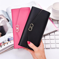 Fashion Design Party Handbag Hasp Long Clutch Leather Wallet Women Luxury Brand Retro Womens Wallets And