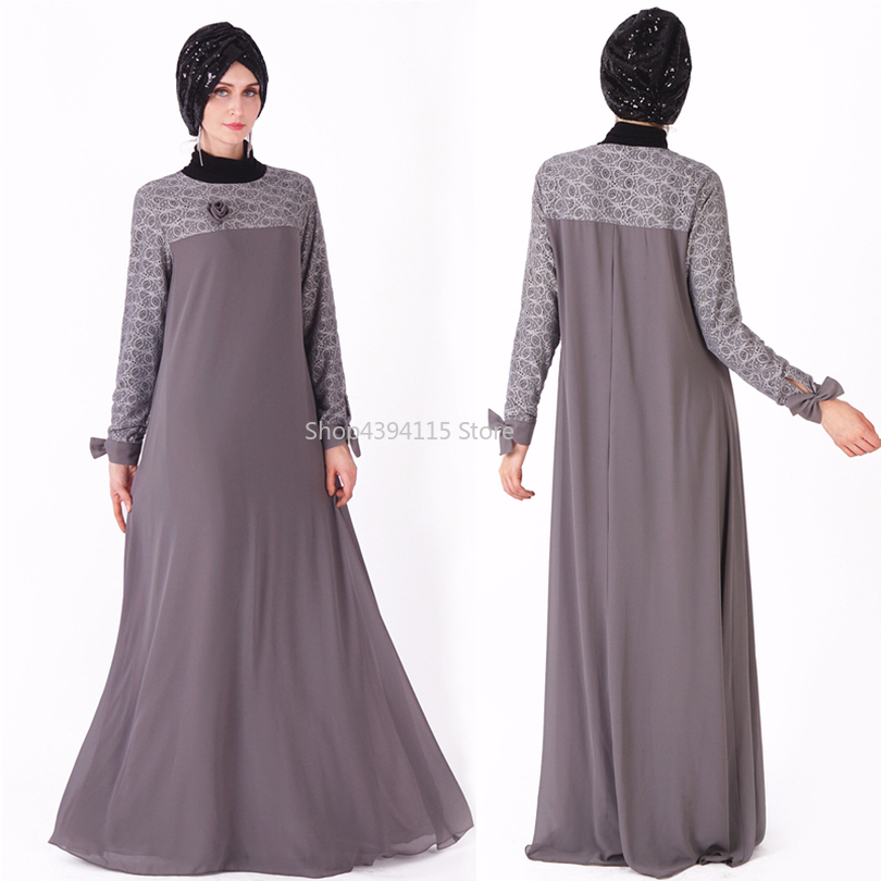 b199487aeceed Chiffon Abaya Muslim Kaftan Dress Turkey Dubai Caftan Ramadan Vestidos  Women Arab Hijab Turkish Tesettur Elbise Islamic Clothing