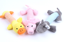 Squeaker squeaky chew pig designs bell puppy elephant duck plush pet