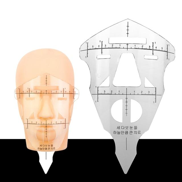 Reusable Eyebrow Stencil Makeup Micro-blading Measuring Shaper Tattoo Ruler Tool