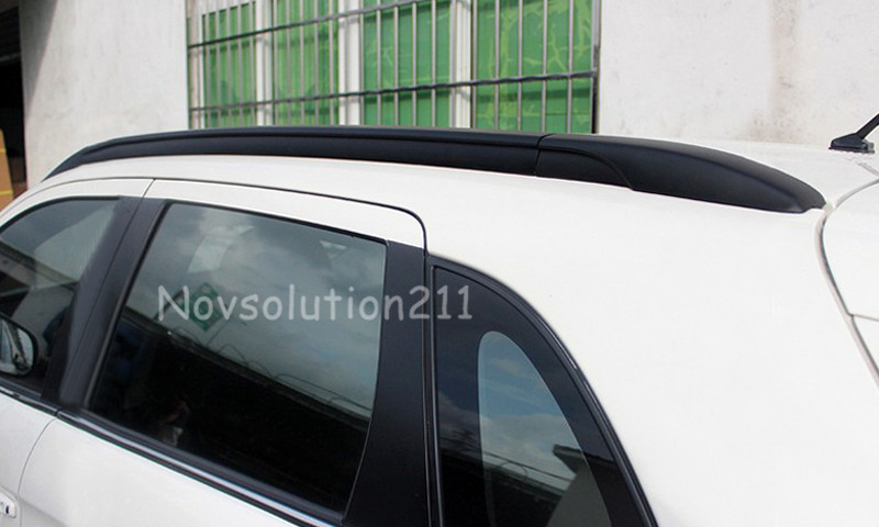 Black Color Luggage Roof  Rack Rails For Mitsubishi ASX 2013 2014 2015 2016 teaegg top roof rack side rails luggage carrier for hyundai tucson ix35 2010 2014