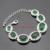 Cor prata Imitado Conjuntos de Jóias Para As Mulheres Feitas na China Verde Esmeralda Colar Pingente Pulseiras Brincos Longos Anéis de Caixa Livre